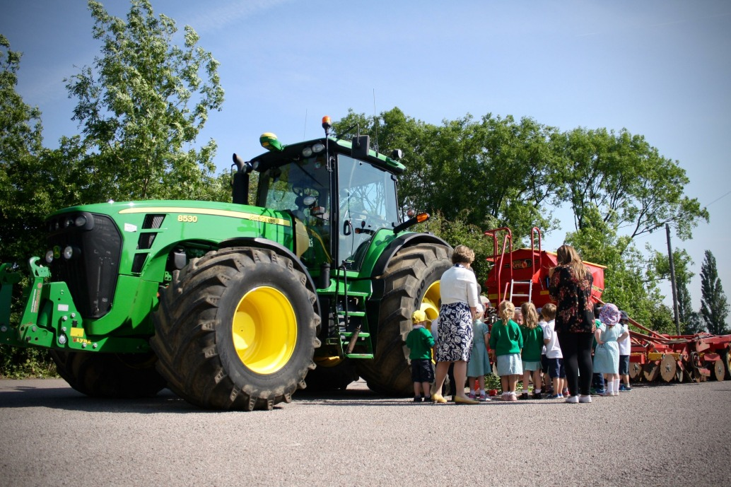 Tractor came to visit the children at our St Albans nursery